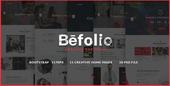 Befolio - Creative Multi-Purpose PSD Template