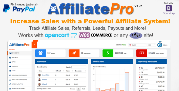 Download Affiliate Pro - Affiliate Management System nulled download