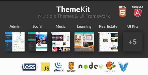 ThemeKit - Bootstrap Admin Theme Kit