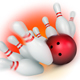 Bowling ball crashing into the pins. 3d render