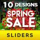 Spring Sale Sliders - 10 Designs