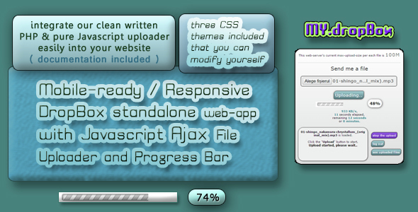 Download Your own Dropbox Place with easy File Uploading with Progress Bar nulled download
