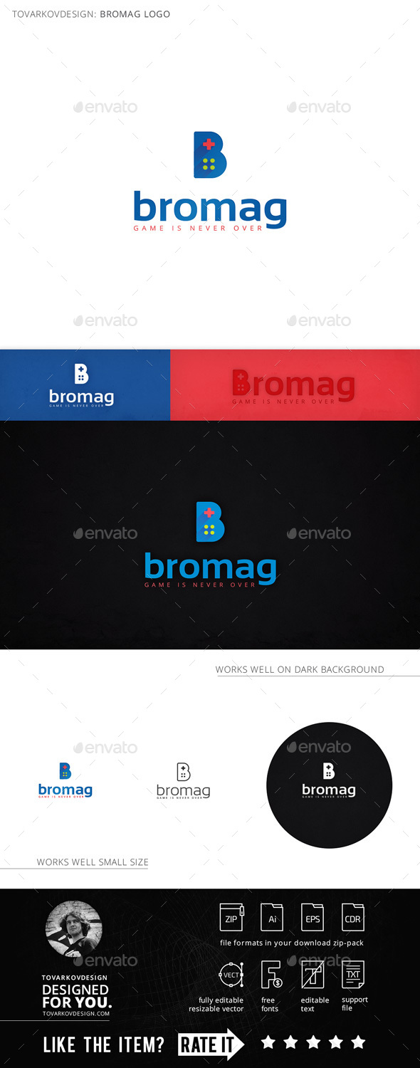 Bromag Controller Letter B Logo Template