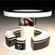 Exhibition Stand - Circular Shape 3D