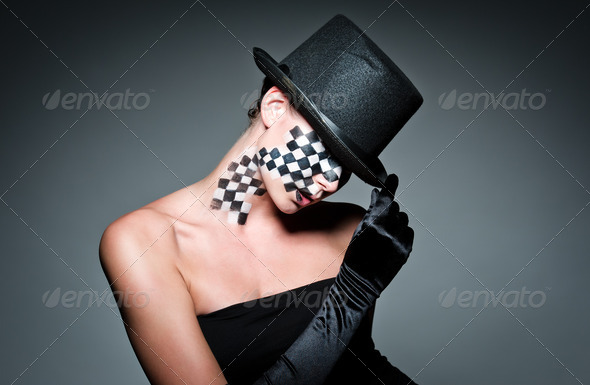 chess girl - Stock Photo - Images
