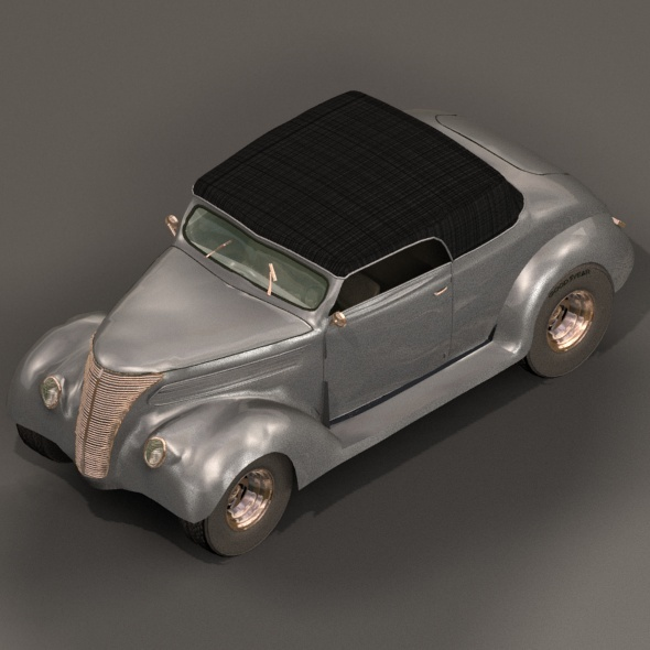 Ford 1937 coupe - 3DOcean Item for Sale