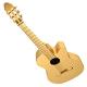 Golden Acoustic Guitar. 3d render