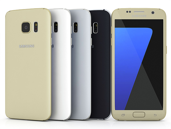 Samsung Galaxy S7 All Colors - 3DOcean Item for Sale