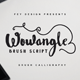 Wowangle Brush Script Font