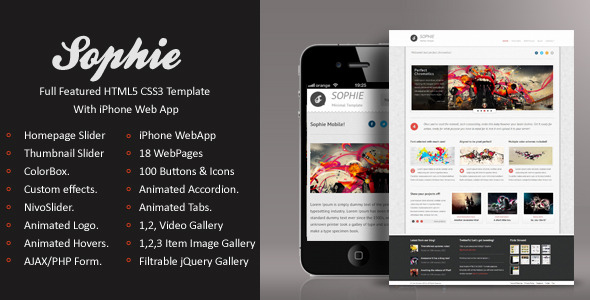Sophie | HTML5 & CSS3 With iPhone WebApp