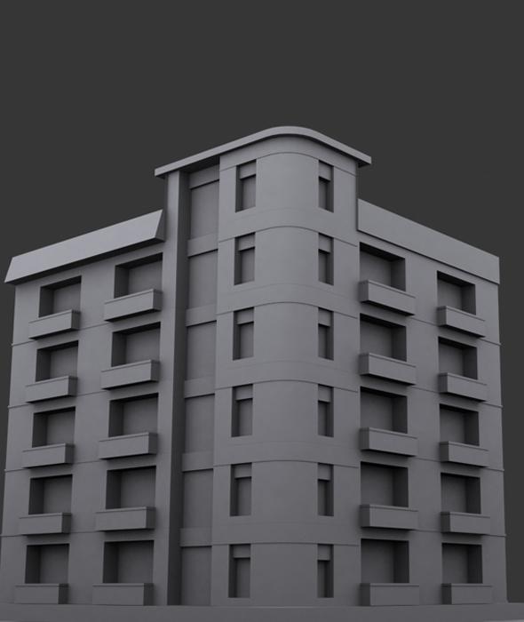 Building Model 1 - 3DOcean Item for Sale