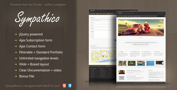 Sympathico multipurpose site template