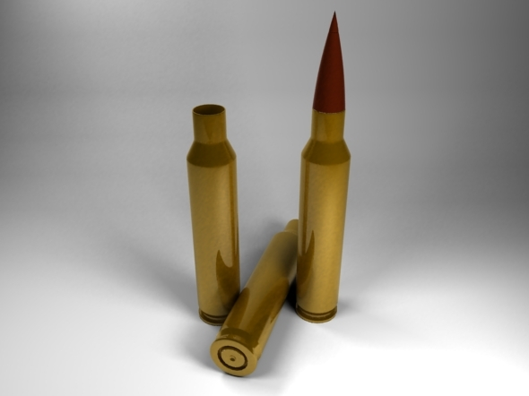 5.56 x 45mm Bullet Cartridge - 3DOcean Item for Sale