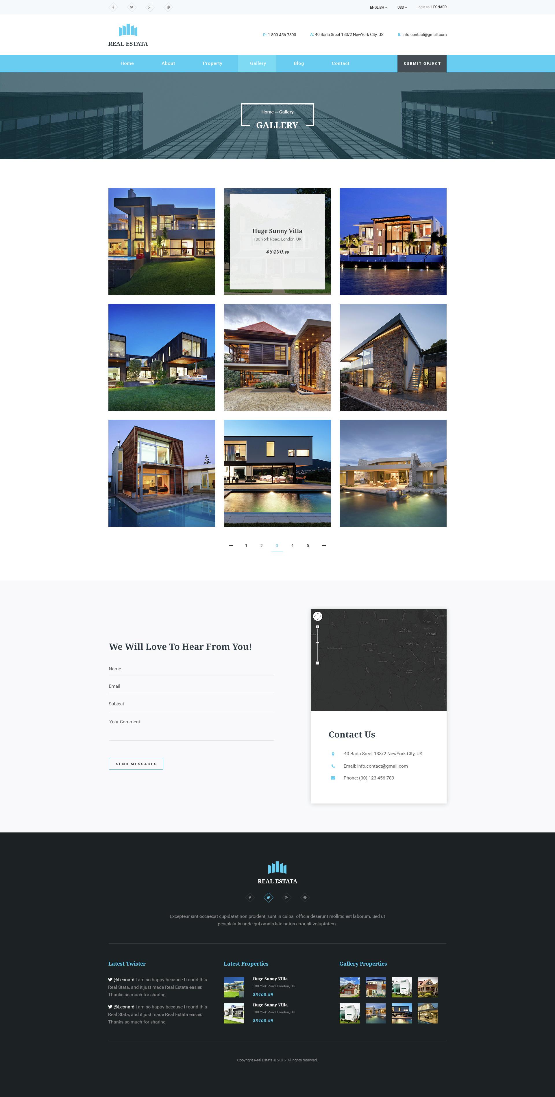 Gmail themes city - Real Estata Real Estate Psd Theme