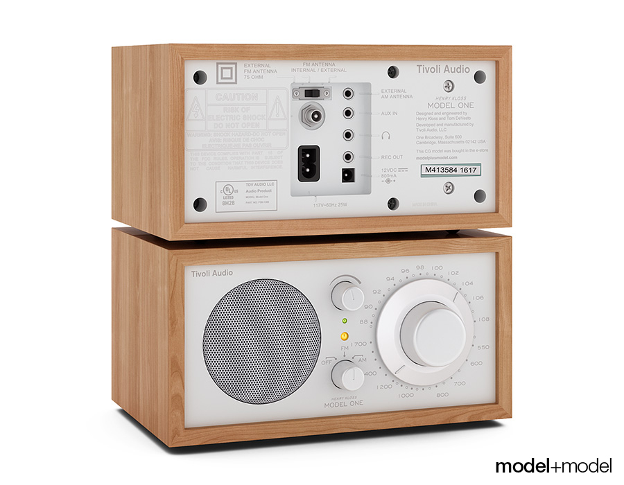 tivoli audio model one radio by modelplusmodel 3docean. Black Bedroom Furniture Sets. Home Design Ideas