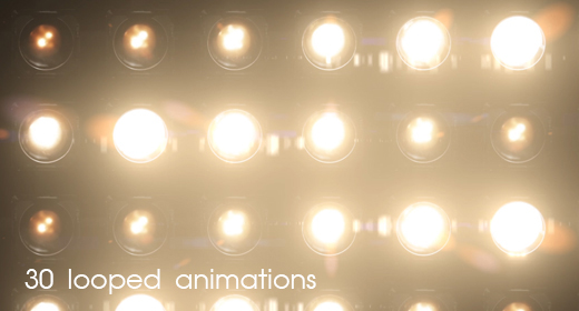 Flashing Wall of Lights