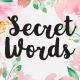 Secret Words Font Duo