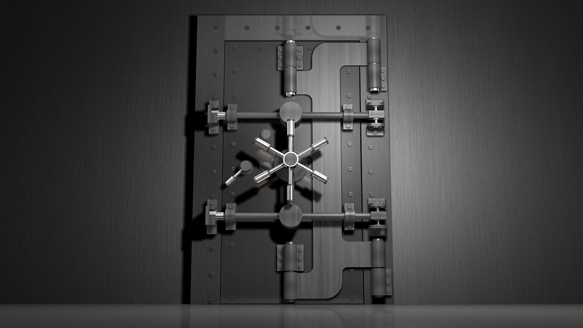 Exterior door frames - Vault Door 02 By Vibes35 3docean
