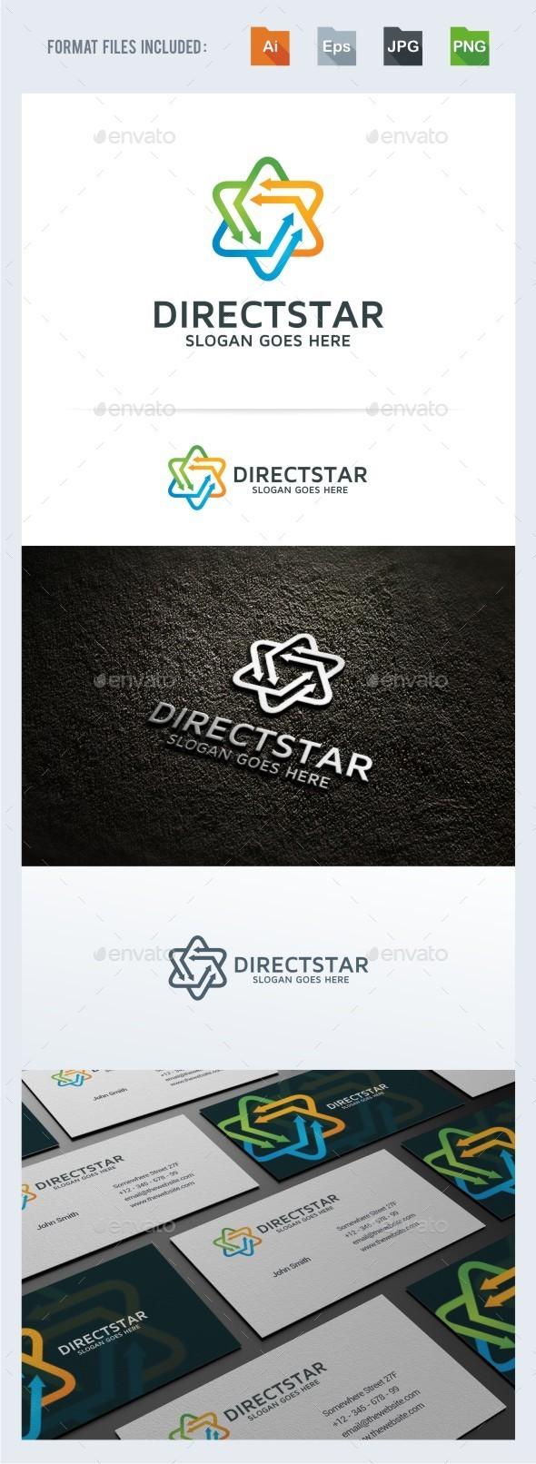 Direct Star Logo Template