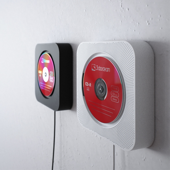 muji cd player by 24mm 3docean. Black Bedroom Furniture Sets. Home Design Ideas