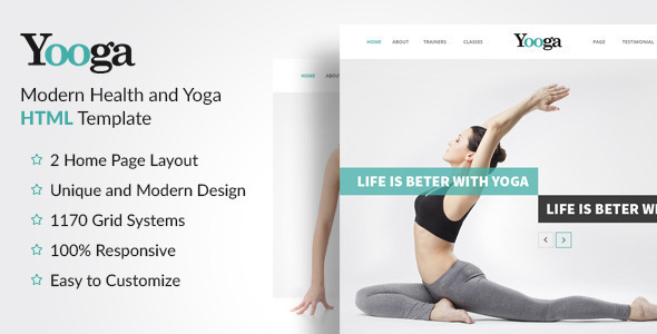 Yooga - Modern Health and Yoga HTML Template