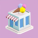 Low Poly Ice Cream Store