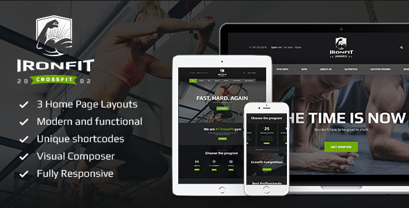Download Ironfit - Fitness, Gym and Crossfit WP Theme