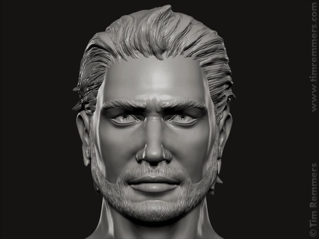 Busto di celebrità maschile di Remmers 3Docean-2327