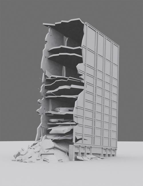 3d Destroyed Building By Noirlj 3docean