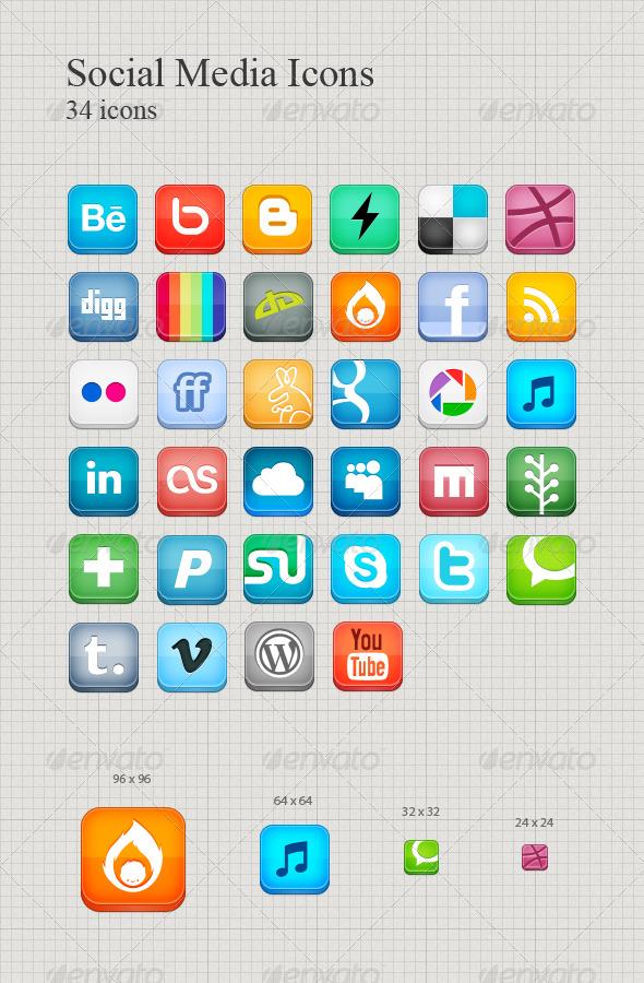 GraphicRiver Social Media Icons 179174