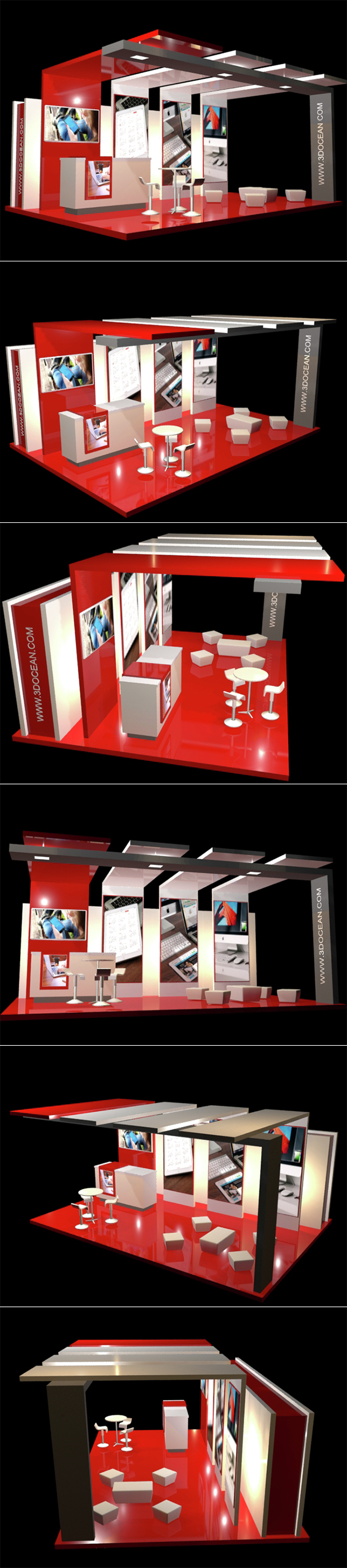 Exhibition Stand Elements : Modern exhibition stand and elements by kenneth docean