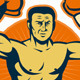 Champion Boxer Boxing Retro