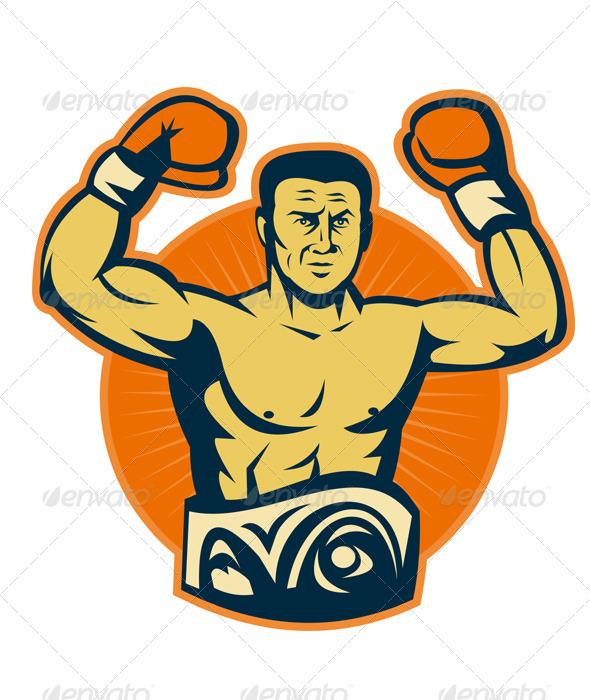 Graphic River Champion Boxer Boxing Retro Vectors -  Conceptual  Sports/Activity 1524522