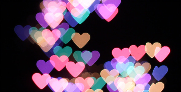 Heart Shaped Bokeh Fireworks Pack