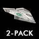 Flying Paper Airplane - One Dollar Bill - Pack of 2