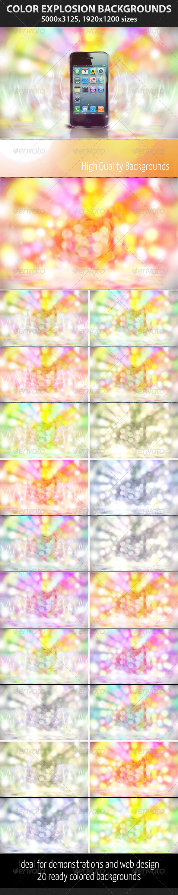 Graphic River Color Explosion Graphics -  Backgrounds  Abstract 1524570