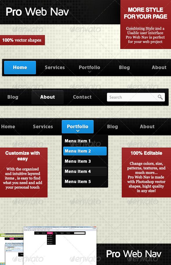 GraphicRiver Pro Web Nav 180140