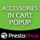 Prestashop Accessories in Cart Popup