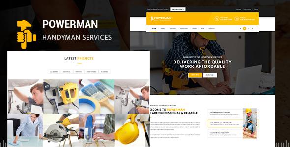 POWERMAN - Handyman Services Drupal Theme