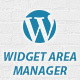 WordPress Widget Area Manager
