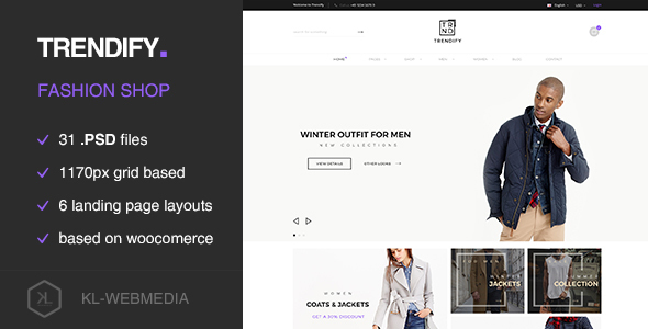 Trendify - Fashion eCommerce PSD template