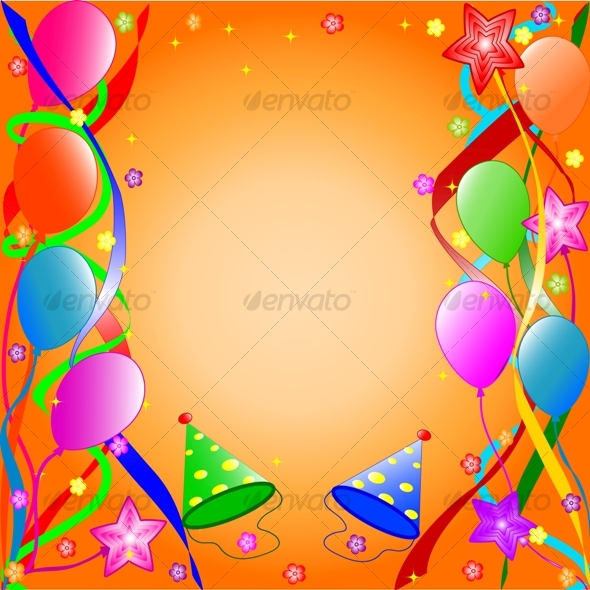 Graphic River Happy Birthday background Vectors -  Conceptual  Seasons/Holidays  Birthdays 60175
