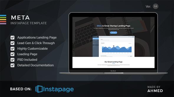 Meta startup - Instapage Landing Page