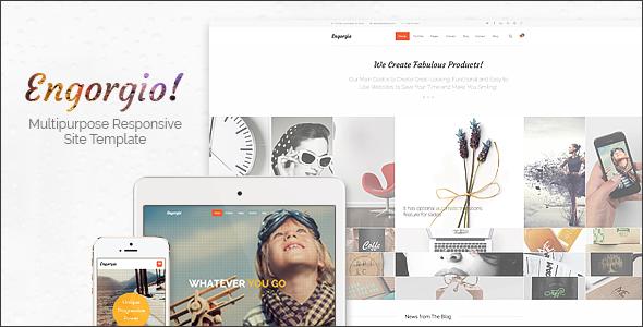Engorgio | Web Design Agency Responsive Site Template