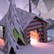 Low Poly Ski Resort Scene