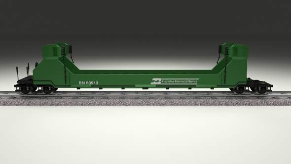 Green Train Well Car - 3DOcean Item for Sale