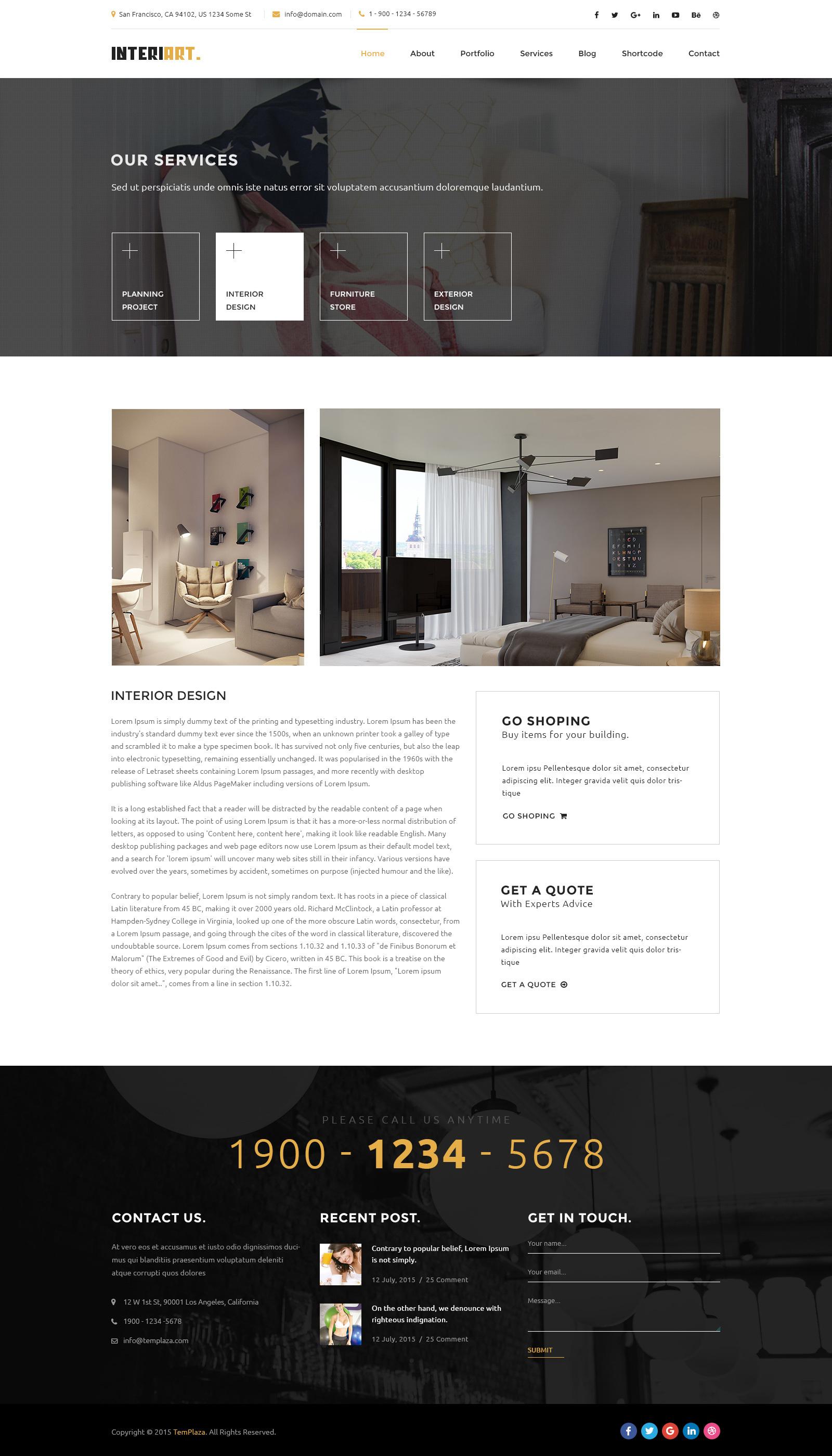 Interiart Furniture Interior Wordpress Theme By Plazart Themeforest