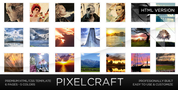 PixelCraft - HTML/CSS Premium Web Template - Creative Site Templates