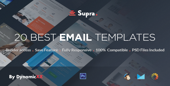 Download Supra - Pack of 20 Templates + Online Template Builder nulled download