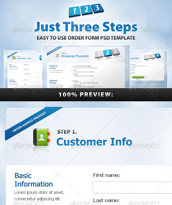 GraphicRiver Just Three Steps 180310